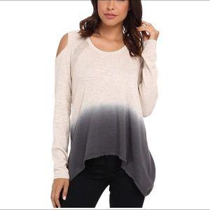DKNY Dip Dye Cold Shoulder Sweater